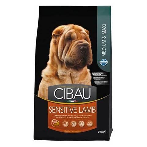 12 кг. FARMINA CIBAU Сухой корм для взрослых собак средних и крупных пород с чувствительным пищеварением с ягненком Sensitive Lamb Medium&Maxi
