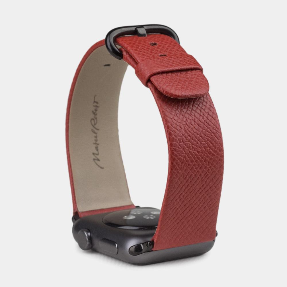Ремешок для Apple Watch 42/44мм ST Classic из натуральной кожи теленка, цвета кетчуп