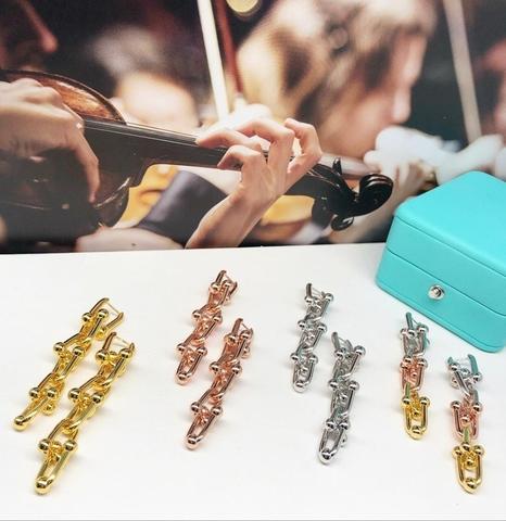 Серьги Tiffany Lux с сужающимися звеньями