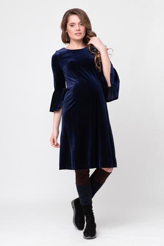 Платье для беременных 09113 синий
