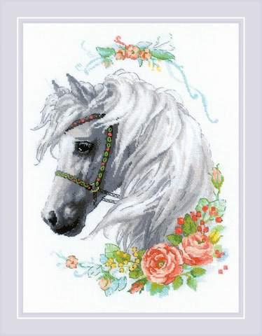 Набор для вышивания крестом «Белогривая лошадка» (1804)