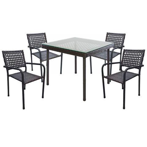 Комплект обеденный ORFEY (стол, арт. ОК-003 (A) и 4 стула кресла, арт. ОК-003 (B))