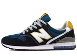 Кроссовки Мужские New Balance 996 Navy Suede White Gold