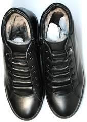 Зимние ботинки из натуральной кожи мужские Ridge 6051 X-16Black