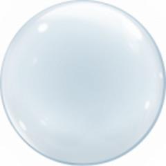 К 24''/61см, Сфера 3D Бабл Прозрачный в упаковке / Deco Bubble