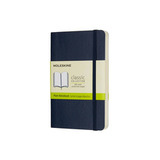 Блокнот Moleskine Classic Soft Pocket нелинованный синий (QP613B20)