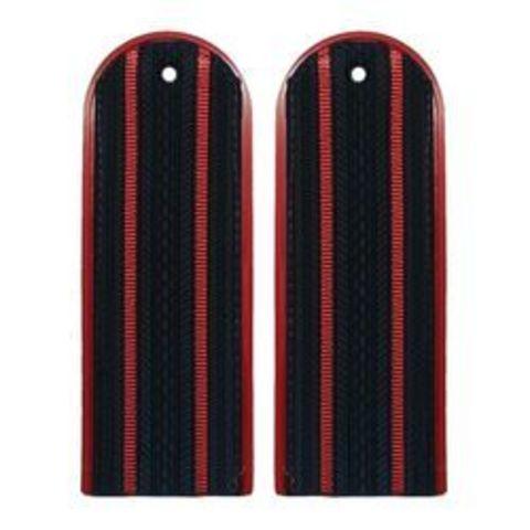 Погоны Полиции на китель с 2 красными просветами (12 см)