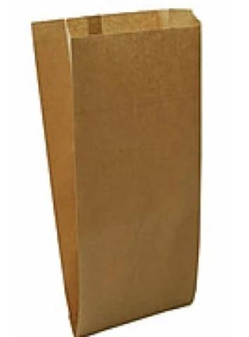 Пакет бумажный 170х60х300 мм с плоским дном крафт40