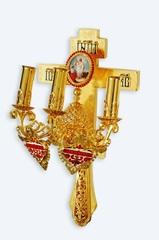 Трехсвечник на кресте №4