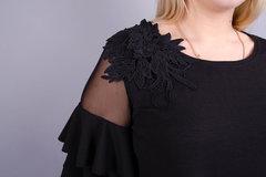 Юнона. Нарядное женское платье плюс сайз. Черный.