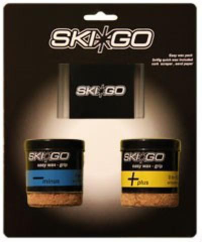 Картинка мазь лыжная Skigo скребок Easy Grip pack - Two easywax & one scraper  - 2