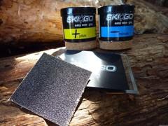 Набор мазей SkiGo+скребок Easy Grip pack - Two easywax & one scraper