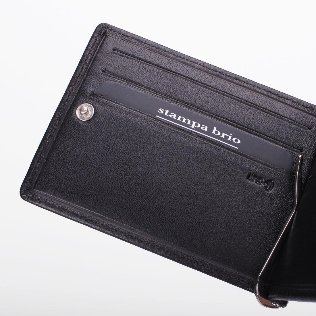 724 R - Зажим для купюр с монетником на молнии и RFID защитой