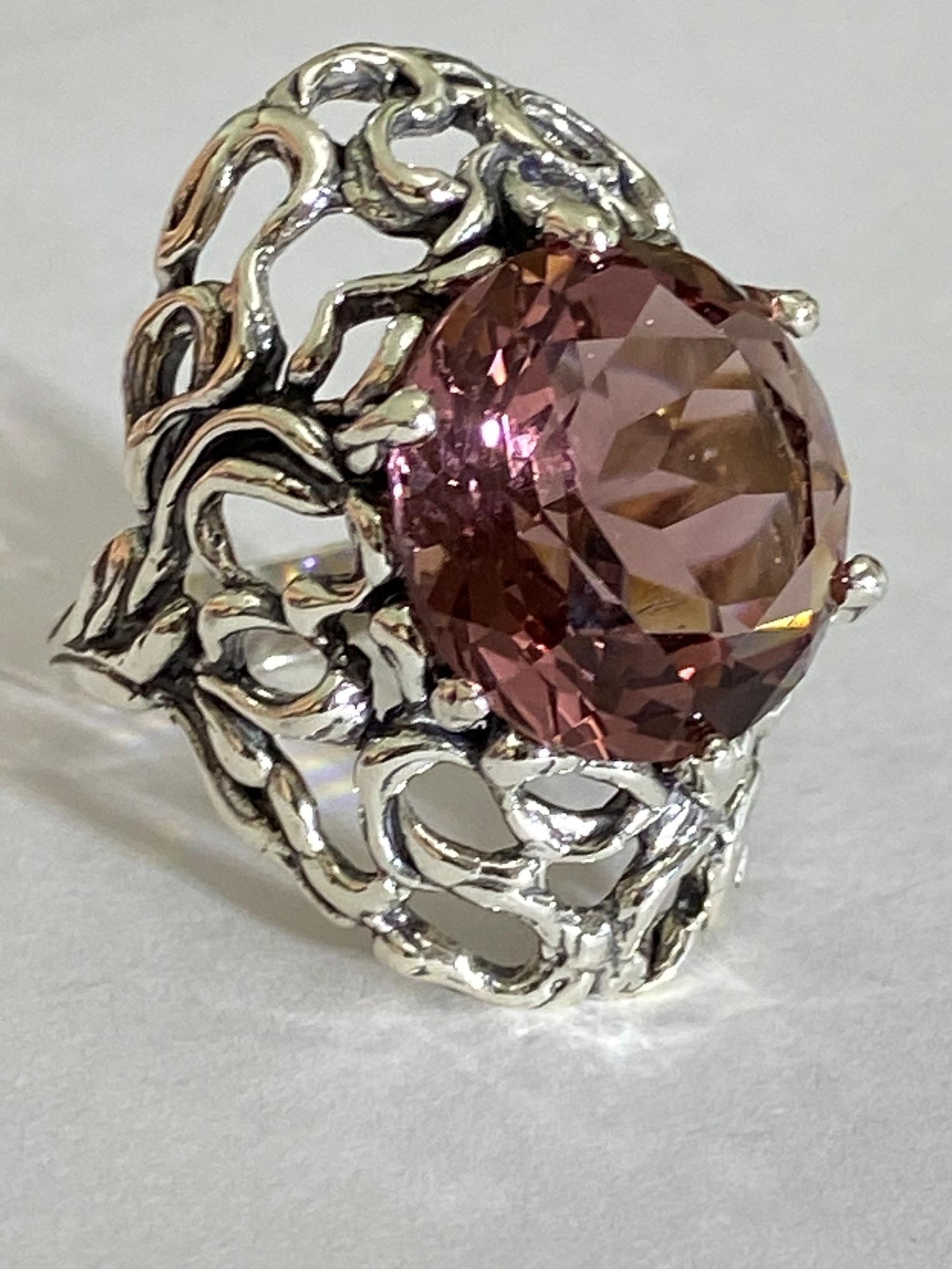 Нефела (кольцо из серебра)