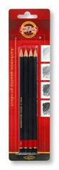 Карандаши чернографитные 1935, B-2H, 4шт, блистер