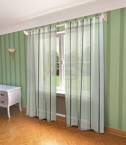 Готовая штора  Холли зеленый