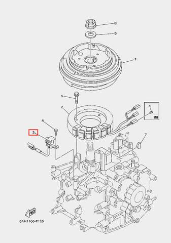 Катушка импульсная для лодочного мотора F20 Sea-PRO (11-3)