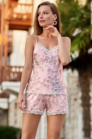 Пижама  женская красная Mia-Amore ROSEMARY РОЗМАРИ 8692