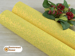 Мелкая россыпь на тканевой основе желтая