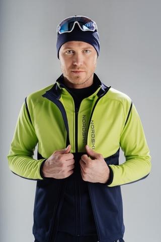 Жилет разминочный Nordski Premium Green/Blueberry мужской