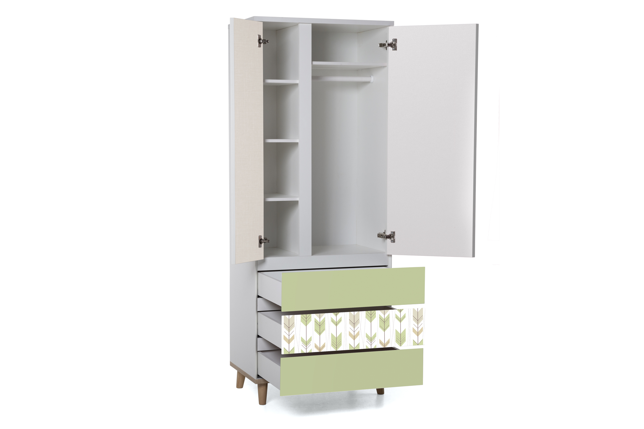 Шкаф LX 33 (зелёный-принт)