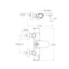 Смеситель термостатичекий для душа с изливом BLAUTHERM 9446S - фото №2