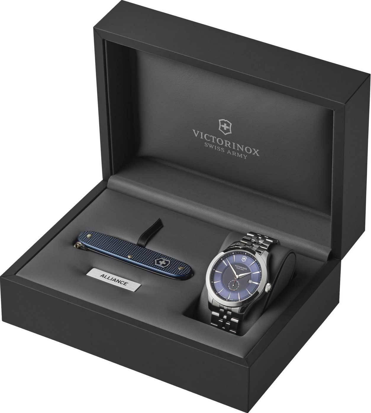 Мужские часы Victorinox Alliance в комплекте швейцарский армейский нож Pioneer 241763.1