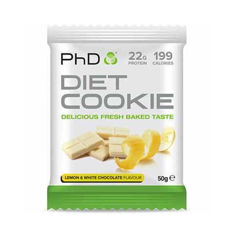 PhD Diet Cookie, диетическое печенье, вкус Лимон/Белый Шоколад 50 гр.