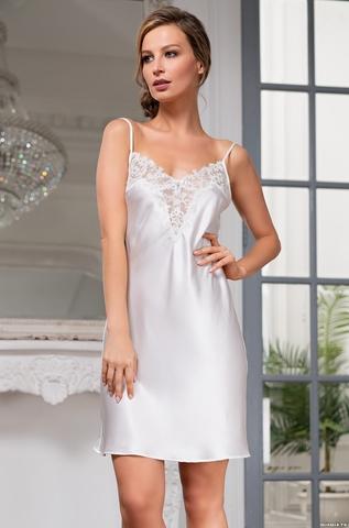 Короткая сорочка Mia Amore White Swan (70% нат.шелк)