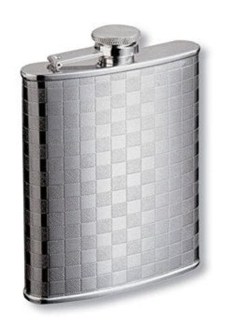 Фляга S.Quire (0,24 литра), сталь, серебристая с рисунком