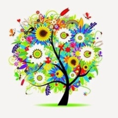 Алмазная Мозаика 20x20 Цветочное дерево из мультика (арт. MM1077 )