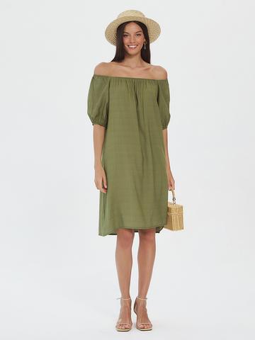BM Платье на резинке Хаки