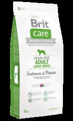 Беззерновой корм для собак крупных пород, Brit Care Grain-Free Adult Large Breed, с лососем и картофелем