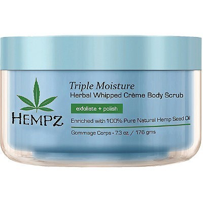 Hempz - Средства для душа: Скраб для тела Тройное увлажнение (Triple Moisture Herbal Body Scrub), 176г