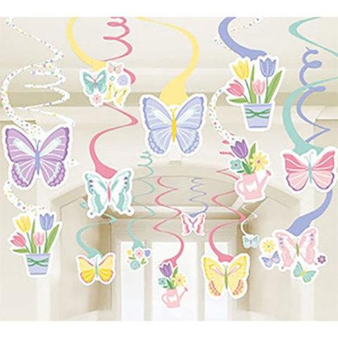 Спирали Бабочки Цветы нежные, 30 штук