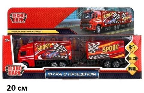 Машина мет. 1615079-R Фура с прицепом Технопарк