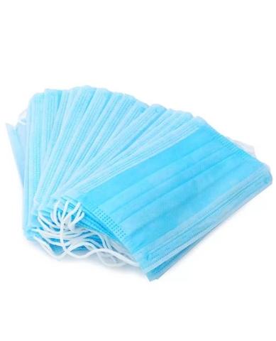 Маска медицинская голубая 3-х слойная (1 упак. 50 шт.)