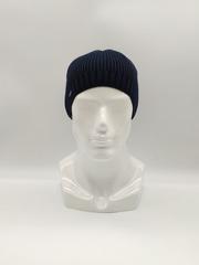 Мужская трикотажная шапка по голове, классика, темно-синяя