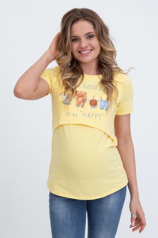 Футболка для беременных и кормящих 10590 желтый