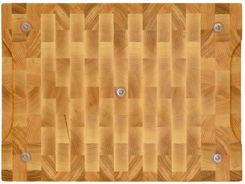 деревянная Торцевая разделочная доска 40х30х3 см ясень
