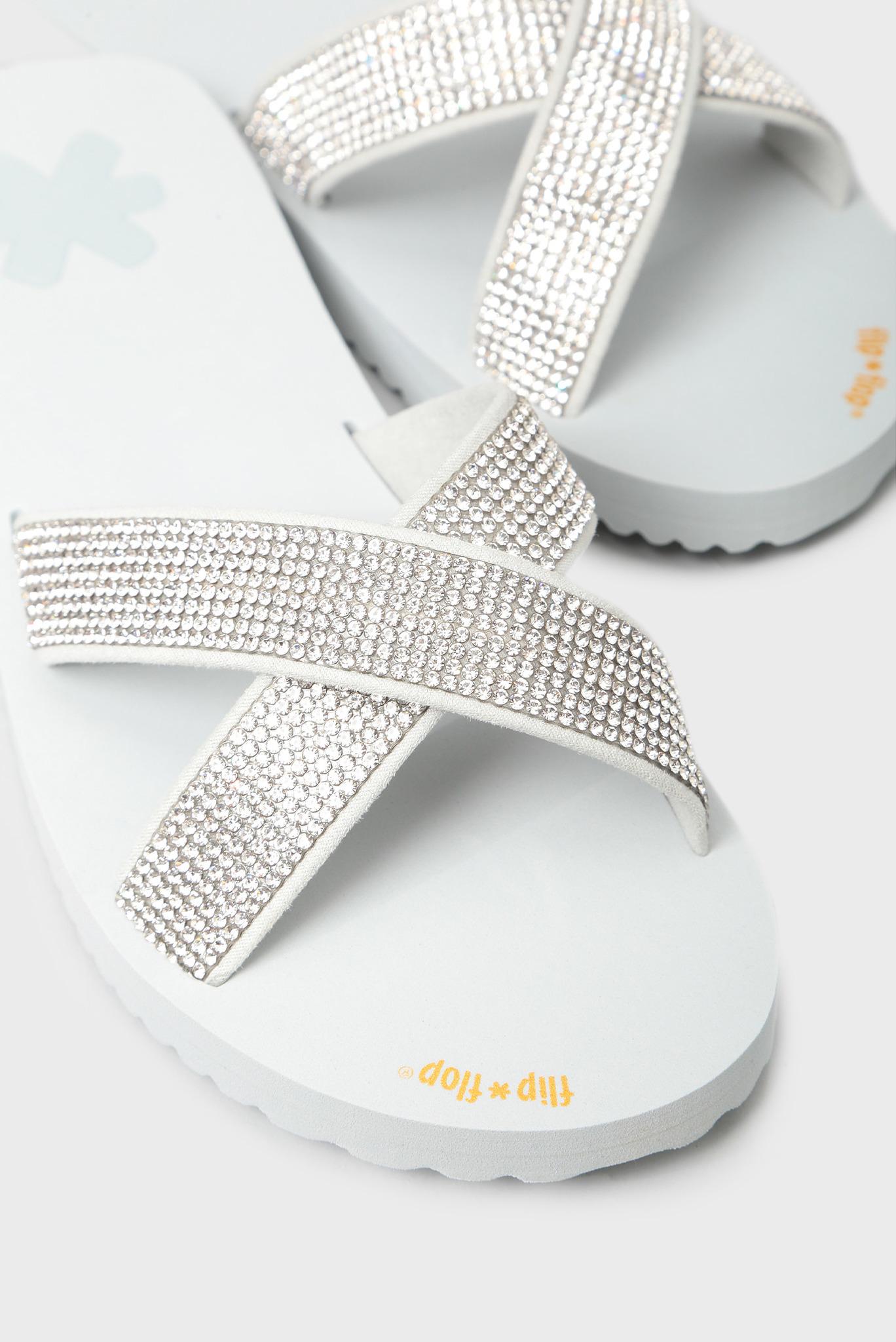Женские серые слайдеры Flip Flop