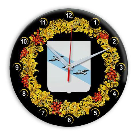 Часы в стиле Хохлома сувенирные Курск 03