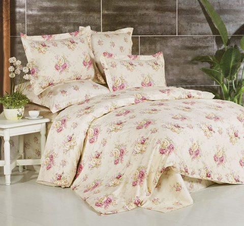 Сатиновое постельное бельё  2 спальное  В-117