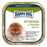 Happy Dog Консервы для собак мелких пород с ягнёнком и рисом (паштет) 1х100 г (65444)