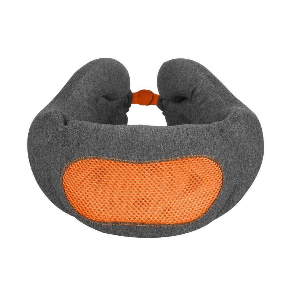 Norwick Travel Pillow, grey with orange