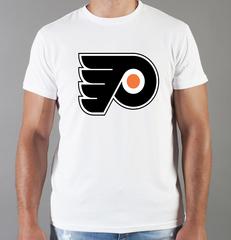 Футболка с принтом НХЛ Филадельфия Флайерз (NHL Philadelphia Flyers) белая 001