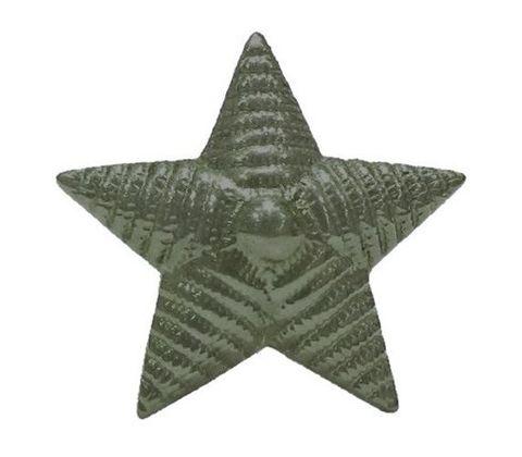 Звезда на погоны мет. 20 мм. риф. защ.