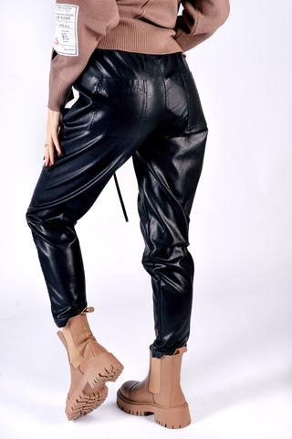 Кожаные штаны со шнуровкой недорого