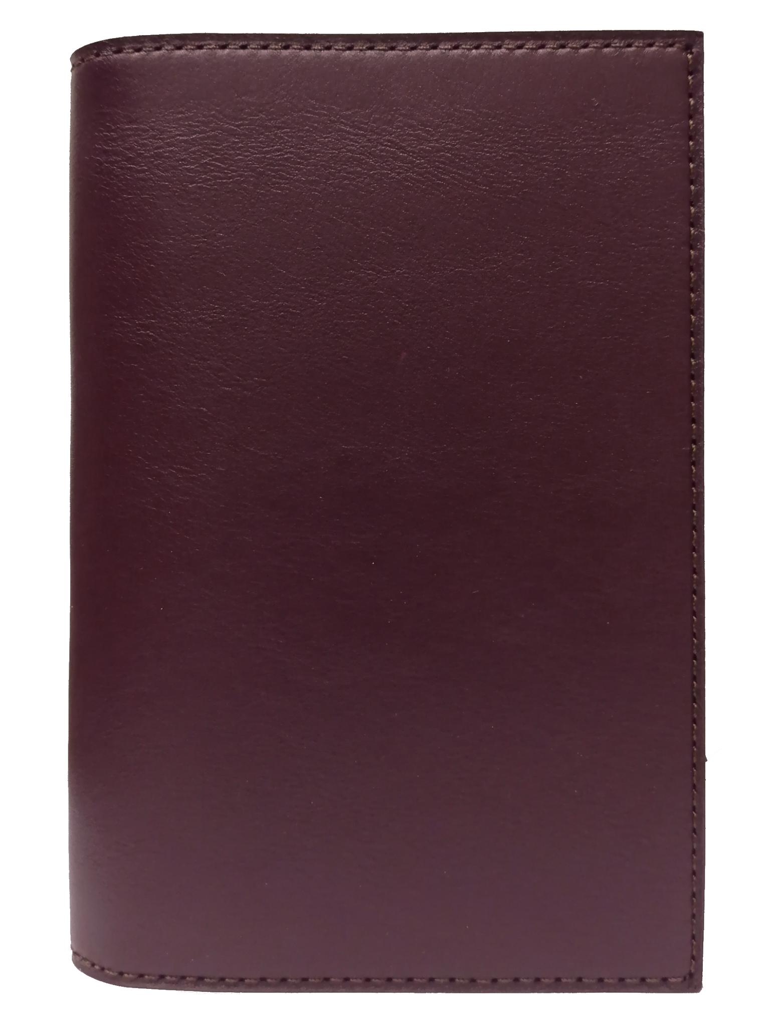 Обложка для паспорта с карманами | Бордо