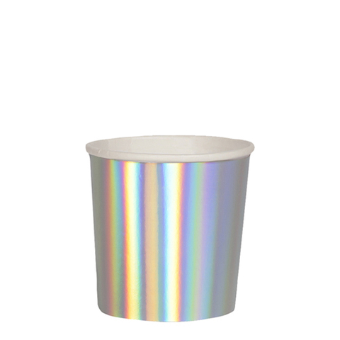 Стаканы серебряные голографические